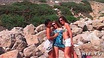 Three hotties have lesb...