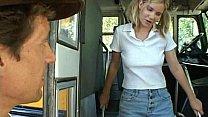 schoolbus shy girl gets...