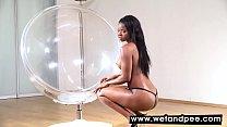 Jasmine Webb enjoys toy...