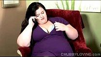Chubby big tits brunett...