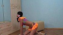 skinny teen gymnast str...
