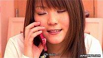 Japanese girl having ph...