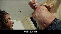 White haired grandpa fu...