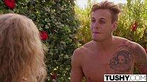 TUSHY Curvy blonde gets...