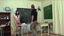 Schoolgirl forced by he...