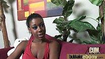 Gorgeous ebony lady suc...