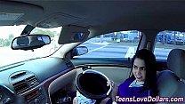 Real teen banged car cash