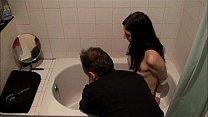 Bath bondage of submiss...