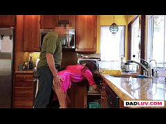 Slutty stepdaughter getting slammed hard in POV...