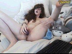 Cute Young teen Masturbating...