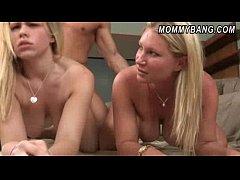 Busty blonde babes Devon...
