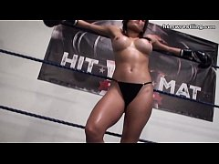 Hottest Latina Femdom POV Boxing Beatdown Topless