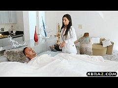 First boy girl scene of hot MILF nurse Melissa ...