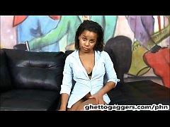 Petite ebony cutie Nala Kristine throat destroy...