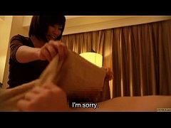 Subtitled Japanese hotel massage handjob leads ...