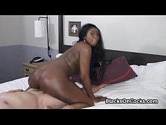 Star wannabe black rides my dick at motel