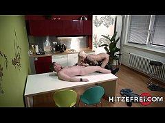 HITZEFREI Stunning blonde milf fucked in the ki...