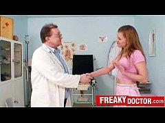 Dirty old doctor finger-checks hot russian blonde Olga Barz