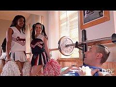 Horny Cheerleaders Nekane & Jasmine Webb Fuck t...