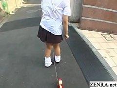 Bizarre JAV enema walk of shame for schoolgirl Subtitles