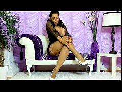 Danica teasing stockings high-heels