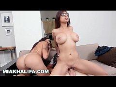 thumb miakhalifa   sitting on big cocks with big tits facing forward compilation
