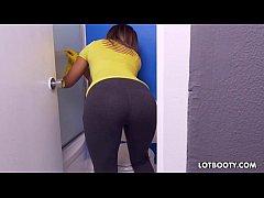 Big booty latina maid Mariah undressing gets fu...