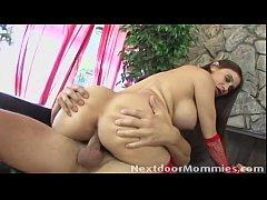 Big breasted mature santa slut fucked