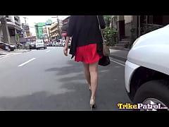 Nerdy Filipina girl fucks and swallows cum on f...