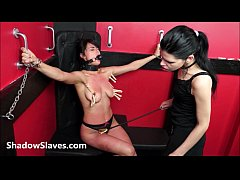 Teen slave Demis lesbian...