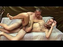 Bareback homosexual guys in act