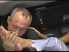 Junges Ding im Auto hart rangenommen - german