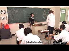 Naughty teacher sucking off her stupid student'...