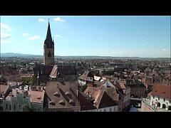 Top View of Sibiu Romania