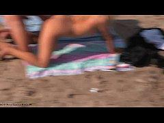 Nudists enjoy doggy style...