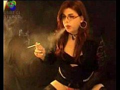 Smoking Shemale t-girl...