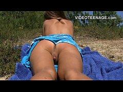 sexy teen nude at beach
