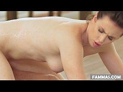Casey Calvert does nuru massage on her second c...