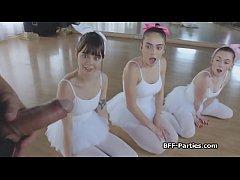 3 teen ballerinas on...