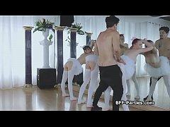 3 teen ballerinas on 1 big cock