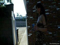 Tipsy Streetwalking Slut Begging...