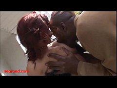 Negroed.com Redhead fishnets leather tits big b...