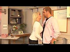 MomsWithBoys - MILF Brooke Haven Flirts And Fucks The School Nurse