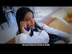 BlackValleyGirls - Cute Ebony Teen Sneaks Aroun...