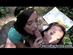 Teen Besties Share Cock...