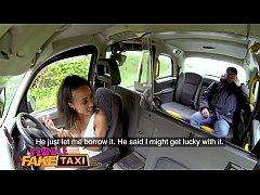 Female Fake Taxi Petite ebony cabbie with tiny ...