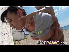 Franceska Jaimes Fucks in Public By The Beach H...