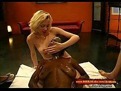 Slut Petra and her Ebony friend in Cum and Piss...