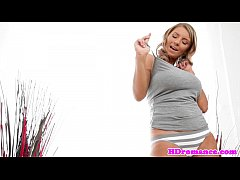 Huge titted girlfriend blows her man