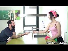Latina barmaid fucking